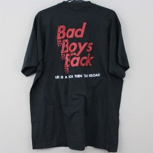 VTG Bad To The Bone Bad Boys Are Back T-Shirt D414